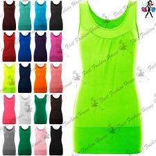 Womens Celeb Sleeveless Ruched Vest Ladies Gathered Neck Ruched Stretch Long Top