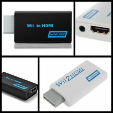 Wii to HDMI 720P/1080P HD Audio Output Upscaling Converter Adapter White Black