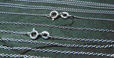 "5x WHOLESALE Sterling Silver 16"" 18"" 20"" Curb Chain, Trace Necklace    UK MADE"