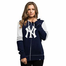 New York Yankees Majestic Women's Big Time Attitude Full-Zip Hoodie - Navy - MLB