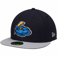 Trenton Thunder New Era Authentic Road 59FIFTY Fitted Hat - Navy/Gray - MiLB