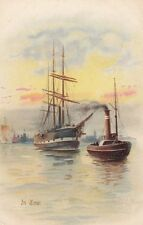 SAILING SHIP : 'In Tow'-ARTHUR PAYNE-MISCH & STOCK