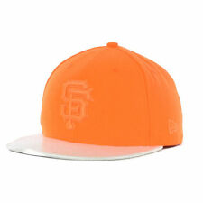 San Francisco Giants MLB Holo Fitted New Era 59Fifty Flat Bill Brim Hat Cap SF O
