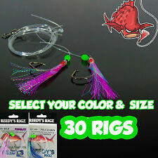 "30 fishing rigs ""snapper rigs"" Features swivels circle hooks heavy leader mono"