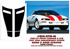 QH-378-H 1993-97 CAMARO & Z28 - HOOD & NOSE STRIPE KIT - FOUR PIECES