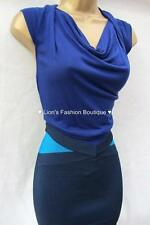 New KAREN MILLEN Blue BNWT Jersey Knit KN138 Evening Party Bandage Bodycon ress