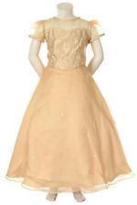 Girl Pageant evening Bridal flower Formal Dress Taupe New Size 4 6 8 10 12 14