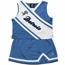 Detroit Lions Girls Toddler 2-Piece Cheerleader Set - Blue - NFL