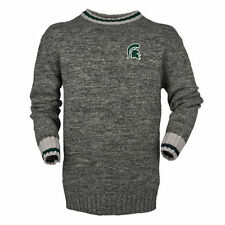 Michigan State Spartans Bruzer Work Sock Crew Neck Sweater - Gray - College