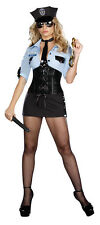 Officer B Naughty Adult Women's Police Cop Costume Dress ,