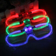 LED Flashing Blinking Glasses Shutter Shades Sunglasses Glow Light Party Club