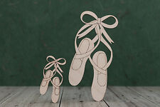 Wooden ballet Shoe Shapes birch ply wood craft blank for Plaque card making x 5