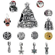 Solid S925 Charm Pendant Beads Fit European 925 Silver Sterling Bracelets C5B3