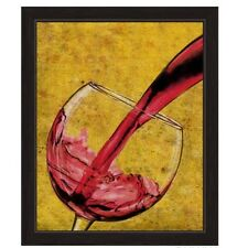 Click Wall Art Pour of Red Wine Framed Painting Print
