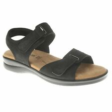 Spring Step DANILA Womens Black Italian Nubuck Leather Comfort Casual Sandals