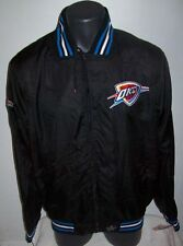 OKLAHOMA CITY THUNDER Ripstop Nylon Jacket with attached hood M L XL BLACK BLUE