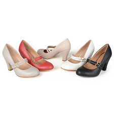 Journee Collection Womens Matte Finish Classic Mary Jane Pumps