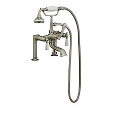 Barclay Rim-Mounted Tub Faucet with Elephant Spout