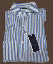 Ralph Lauren Purple Label Italy Mens Striped Keaton French Cuff Dress Shirt