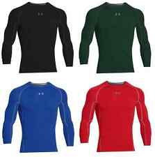 16 Colors Under Armour Men's HeatGear Longsleeve Compression Fit Shirt NWT #038