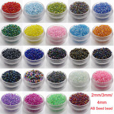 Czech  22g 2/3/4mm Round Lot Colorful AB Glass Seed Beads DIY Jewelry Making