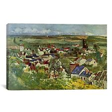 iCanvas 'View of Auvers' by Paul Cezanne Painting Print on Canvas