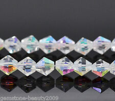 Wholesale HX Crystal Glass Faceted Bicone Beads 6x6mm