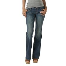 Mossimo Bootcut Jeans Womens Low Rise Medium Tint Blue Wash Stretch Denim