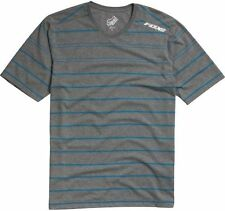FOX RACING MENS OFFICIAL CREW TEE KNIT T-SHIRT motocross new GREY