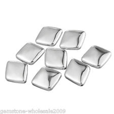 Wholesale Lots Silver Tone Smooth Square Spacers Beads 29x25mm
