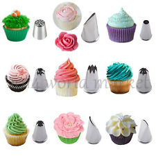 Hot! 9 Styles Icing Piping Nozzles Tips Cake Cream Decoration Modelling Tools xs