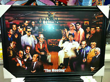 The Meeting Mafia Gangsters Picture 24x36 SCARFACE,GODFATHER,GOODFELLAS,SOPRANOS