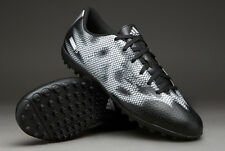 Mens Adidas F5 TF Black Silver Astro Turf Football Shoes Boots Trainers