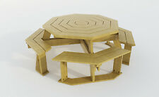 Build your own Octagon Picnic table (DIY Plans) Fun to build!