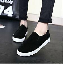 Korean Fashion Women Loafer Leisure solid Slip-on Causal Faxu Suede Flats Shoes