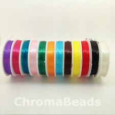 0.6mm Strong & Stretchy - CHOICE OF 12 COLOURS - crystal elastic thread, 7m roll