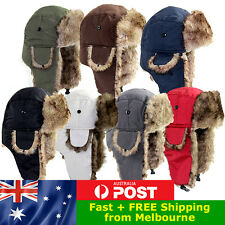Russian Faux Fur Ushanka Trapper Trooper Hat Quality Winter Ear Flaps Cap