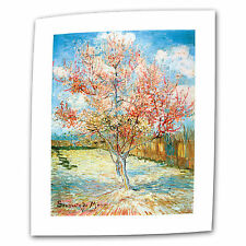 The Flowering Peach Tree by Vincent van Gogh Painting Print on Rolled Canvas