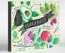 Guacamole Recipes by Ana Victoria Calderon Graphic Art on Wrapped Canvas