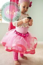 1st First 2 Birthday Baby Girl Outfit TUTU Headband LEGGINGS party dress costume
