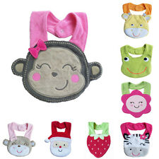 Lovely Kids Waterproof Cartoon Lunch Bibs Infant Animal Saliva Towel Bib Monkey