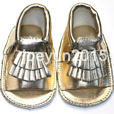 New Summer Baby Girls Boys Soft Sole PU Leather Toddler Moccasins Sandals 0-24M
