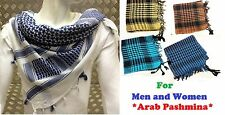 Checkered Palestine/Palestinian Scarf Men/Women Arab Shemagh Kafiya Many Col @rb