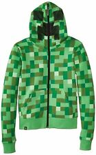 Minecraft Creeper Youth Premium Hoodie Officially Licensed Authentic Zip Up