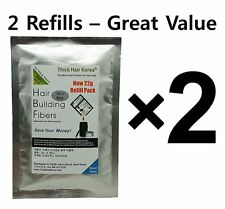 2 Refill Bags - Bald Cover Hair Loss Spot Concealer Hair Thickening Fibers