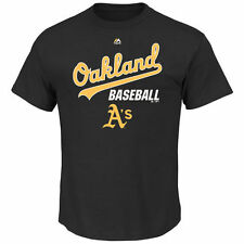 Oakland Athletics Majestic Big & Tall Synthetic T-Shirt - Black - MLB