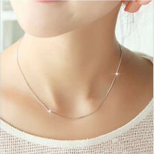 Women Silver Plated Smooth Snake Chain  With Lobster Clasp For Pendant New