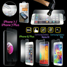 New Premium Real Tempered Glass Film Screen Protector for iPhone 5/ 6S 6 Plus S5