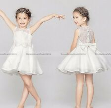 Bow-knot Princess Dress Kid Party Pageant Wedding Bridesmaid Dresses Flower Girl