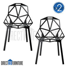 2x MADRID Retro Replica Konstantin Grcic Chairs Eames Café Office Dining ABS
